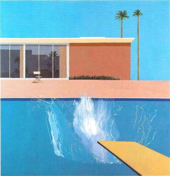 """A Bigger Splash"" av David Hockney"