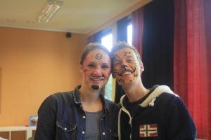 Mari og Marius malte hverandre!