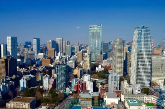 Utsikt frå Tokyo tower - meg